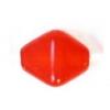 Glass Bead Lanterns 6mm Brick Red Strung
